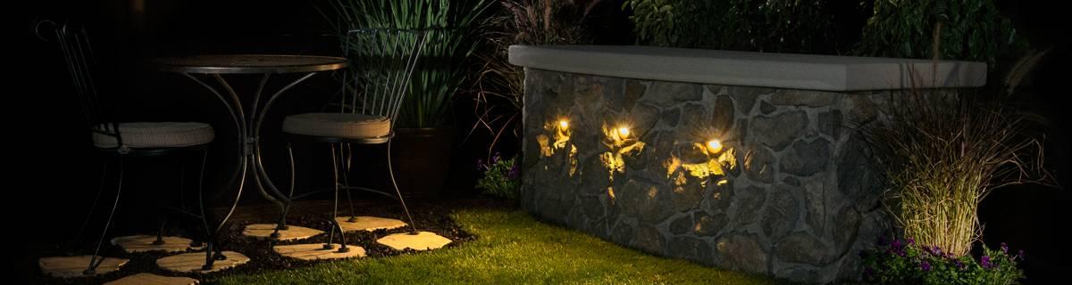 Example of front backyard lighting.