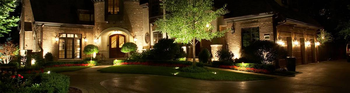 Large home with outdoor lighting service.