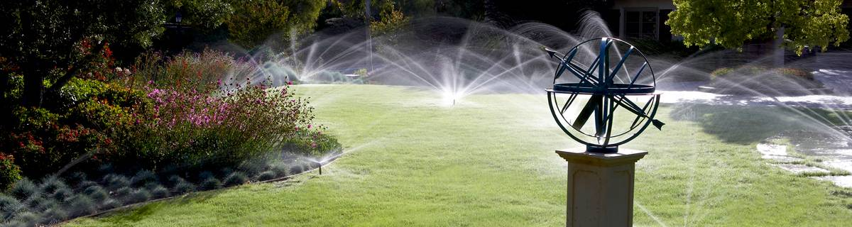 Example of a residential sprinkler system.