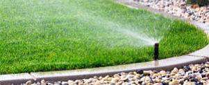 Up close view of one of our lawn sprinkler systems.