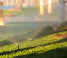 Lawn Sprinkler systems help water grass