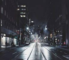 outdoor lighting of the street