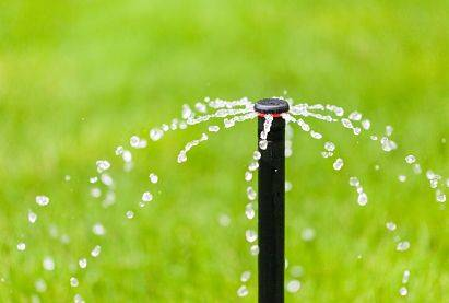 Sprinkler head close up to help in choosing a lawn sprinkler system.