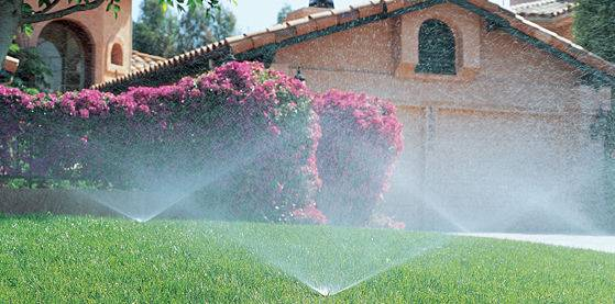 A residential sprinkler system from a lawn irrigation company.