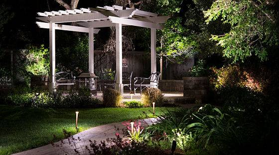 Professional patio lighting by American National.