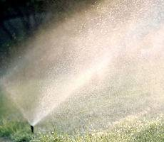 A lawn sprinkler - winterize your lawn sprinkler by American National.