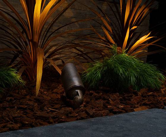 Security landscape lighting company - backyard lighting by American National.