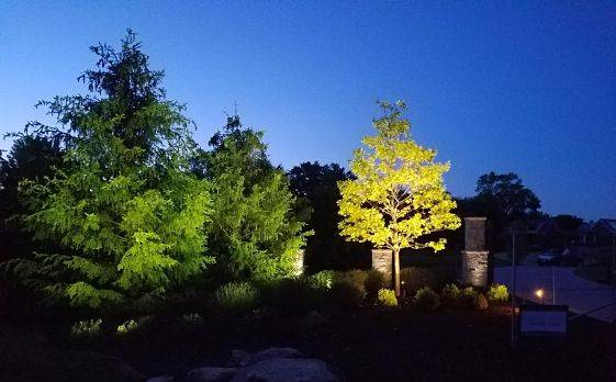 Outdoor lighting Chicago - night lighting on a property.