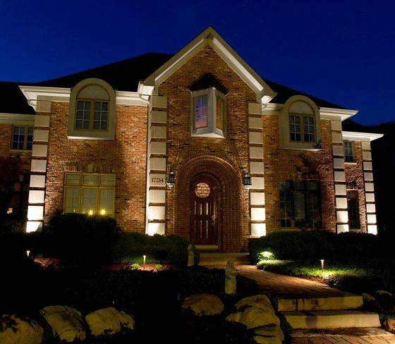 The work of American National's landscape lighting contractors.