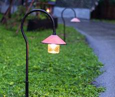Outdoor accent lighting - pathway lighting in a client's yard.