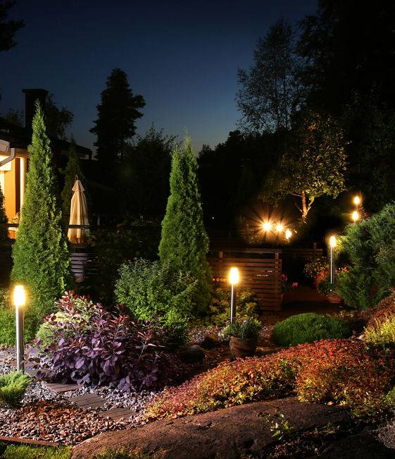 Outdoor lighting installation can brighten up your backyard and garden.