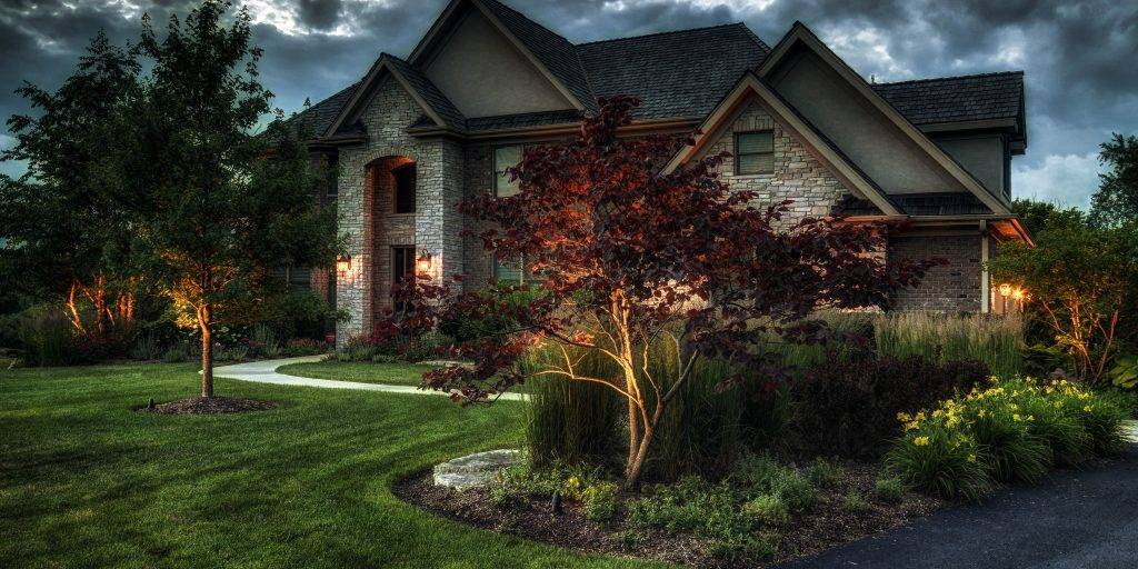 American National Sprinkler & Lighting - lighting job on a home in Lake Forest.