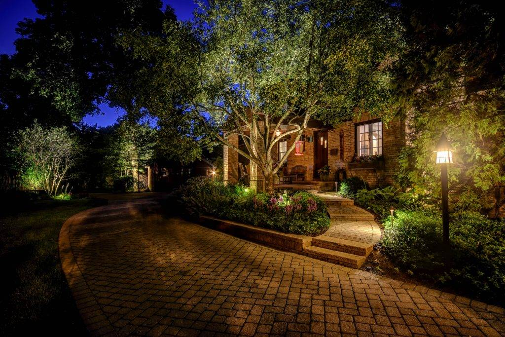 American National Sprinkler & Lighting - lighting job on a home in Lake County.