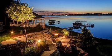 American National Sprinkler & Lighting installed outdoor lighting systems on your house and property.