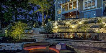 American National and Lighting installed an outdoor lighting system on a Lake County home.