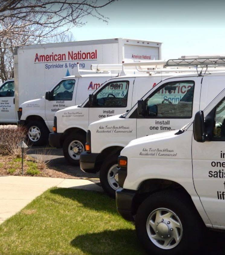 American National Sprinkler & Lighting - outdoor lighting contractor fleet, go with a local business.