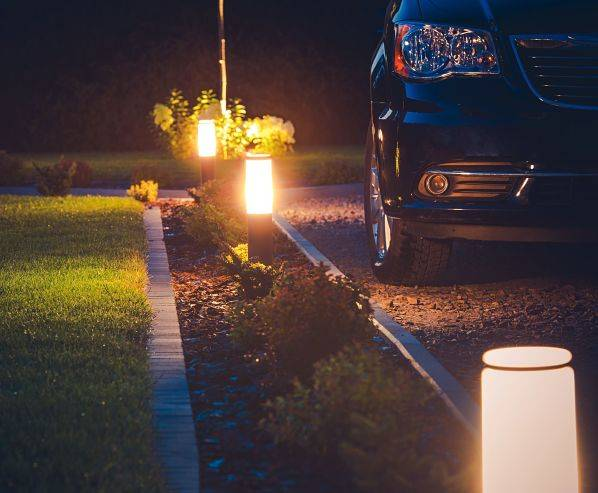 American National Sprinkler & Lighting - Vernon Hills landscape lighting - driveway and security lighting can deter burglars from your home.